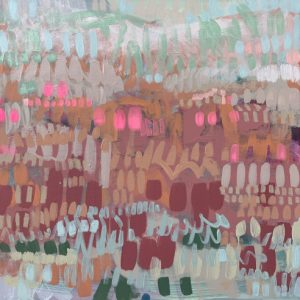 Large mixed media painting featuring the Norfolk coast