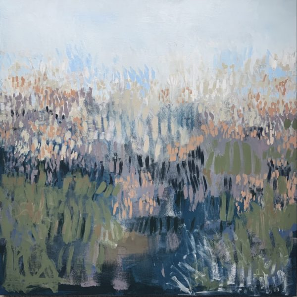 Flowering Bog Rushes, a fine art painting by Claire Oxley